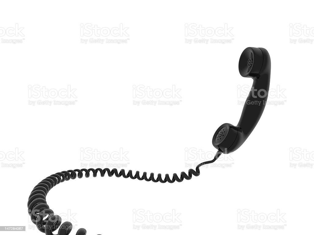 Phone receiver stock photo