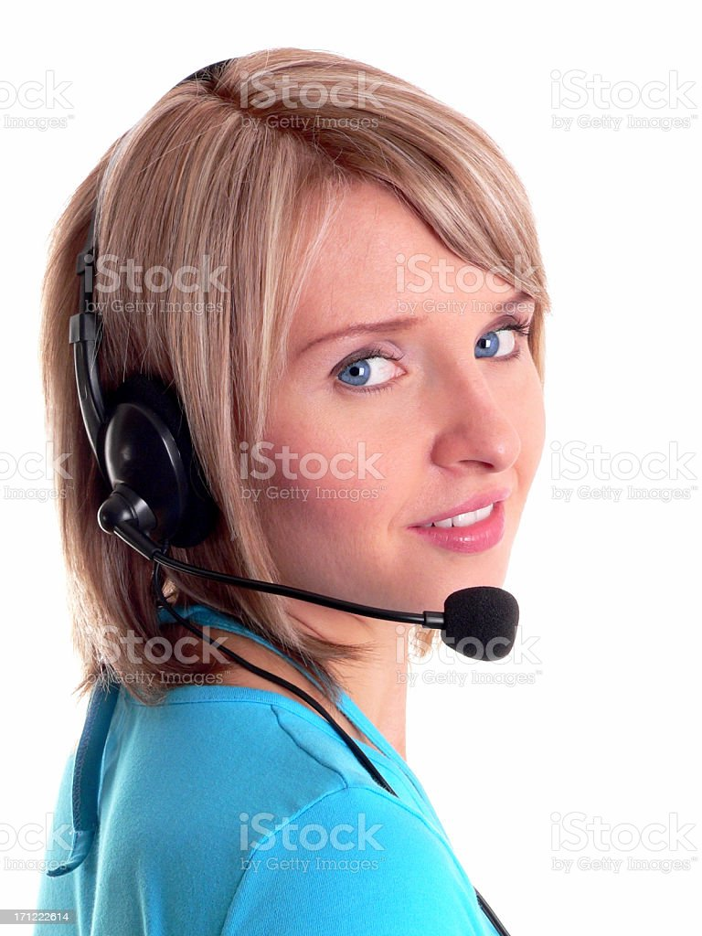 Phone support royalty-free stock photo
