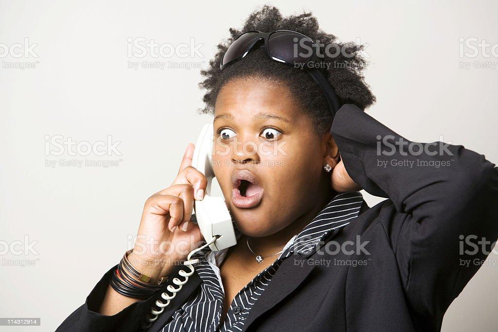 Phone surprise royalty-free stock photo