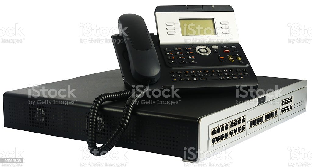 Phone switch and telephone royalty-free stock photo