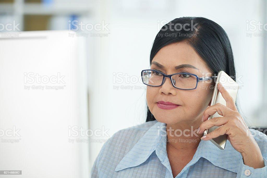 Téléphone parler  photo libre de droits