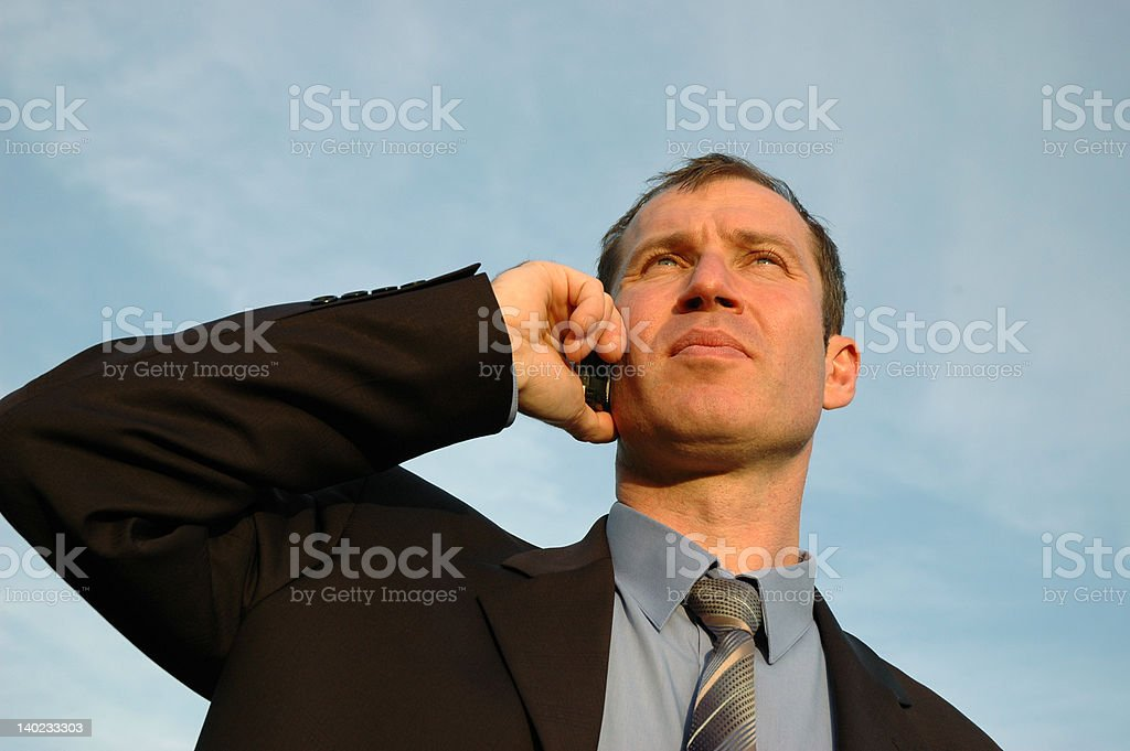 Phone talking royalty-free stock photo