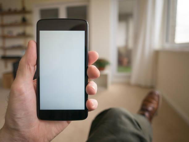 Telefon-Vorlage für Grafiken. – Foto