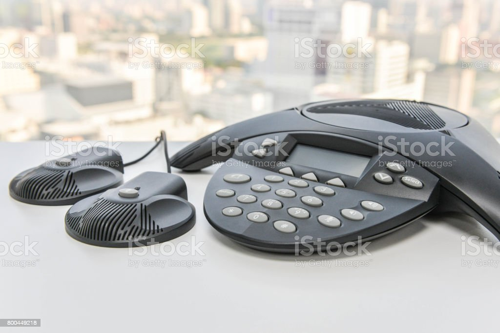 IP Phone - the techmology of office phone stock photo