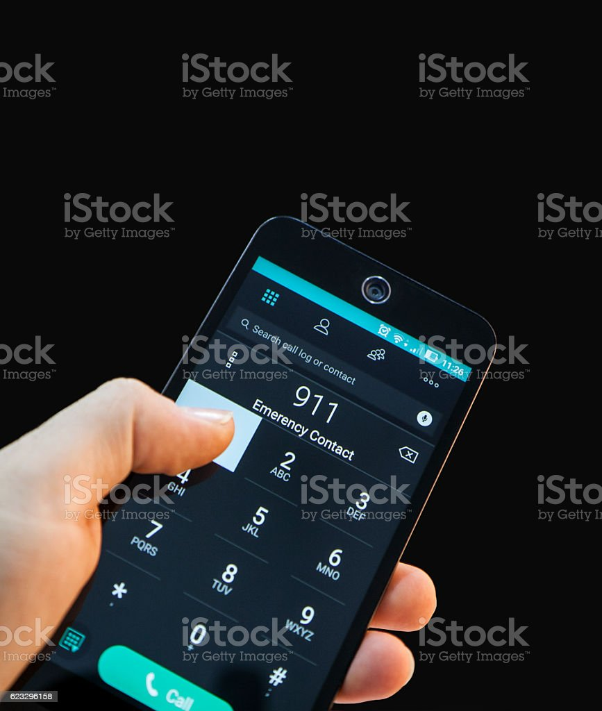 phone to call health service stock photo