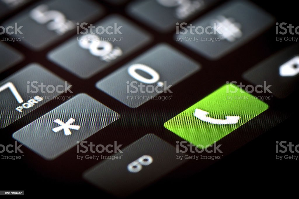 Phone Touchscreen Keypad stock photo