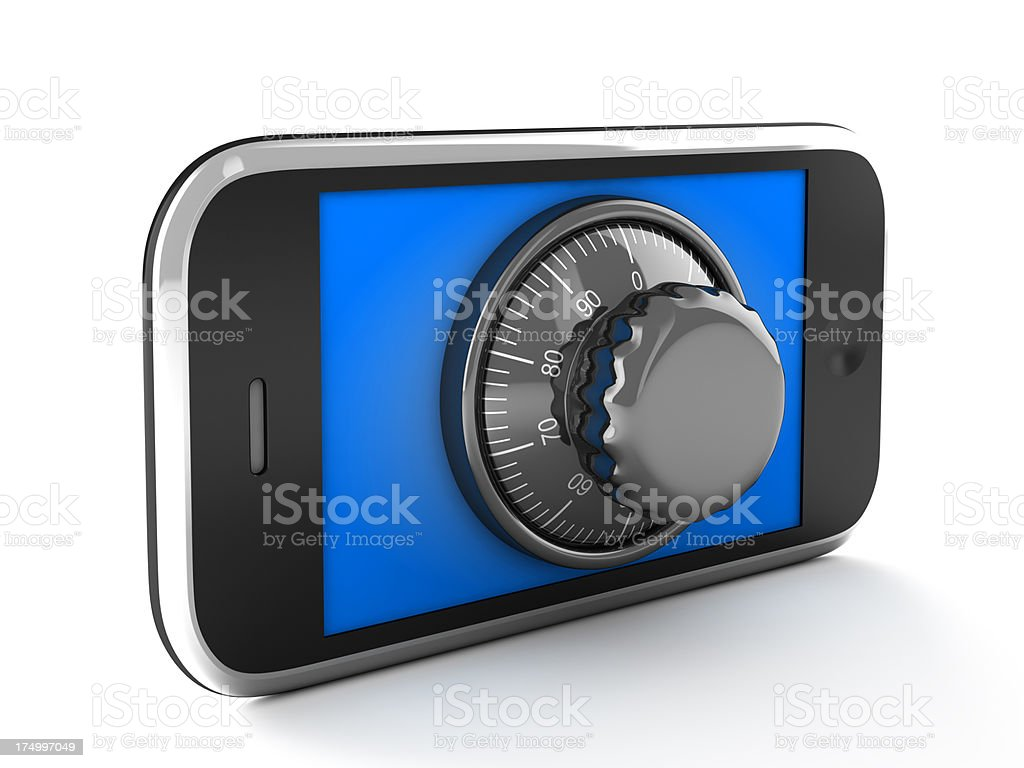 Phone with combination lock royalty-free stock photo