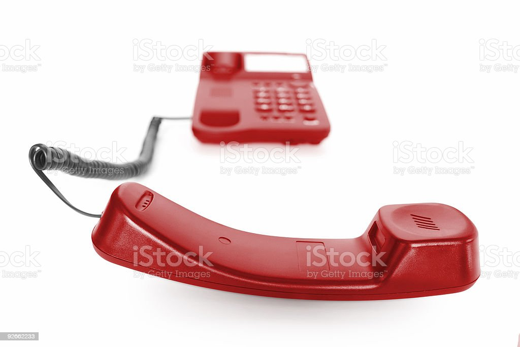 phone with receiver royalty-free stock photo