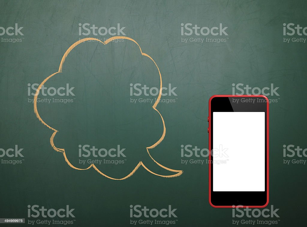 Phone With Speech Bubbles stock photo