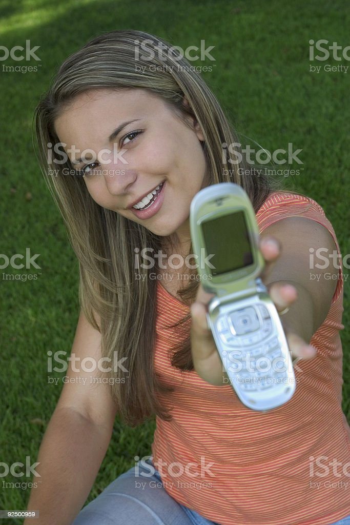 Phone Woman royalty-free stock photo