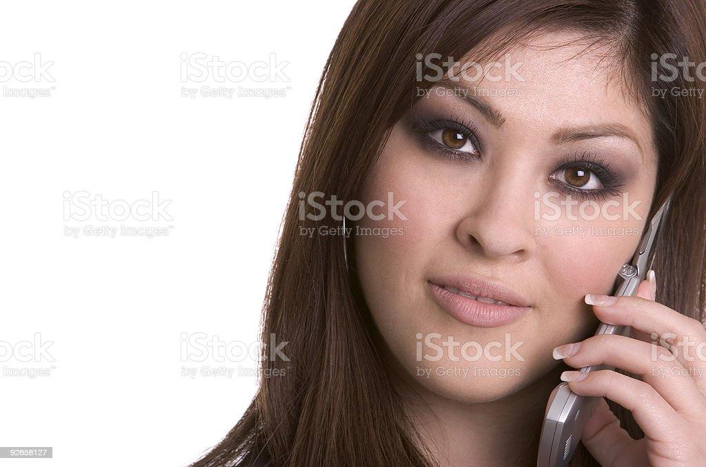 Phone Woman royalty-free stock photo