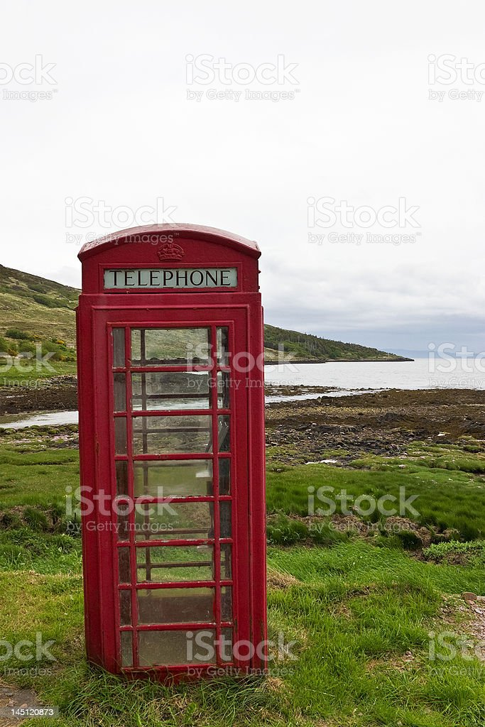Phonebooth royalty-free stock photo