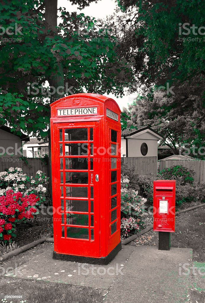 GPO phonebox and PO letterbox stock photo
