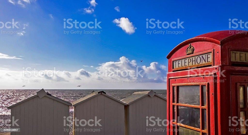 Phonebox GPO exmouth stock photo