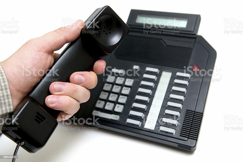 Phonecall - Zbiór zdjęć royalty-free (Biały)