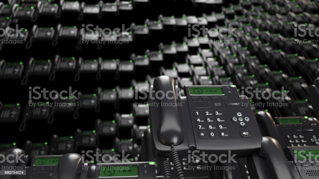 VOIP phones background - foto stock