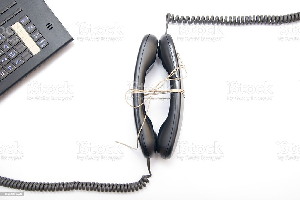 Phones Connected royalty-free stock photo
