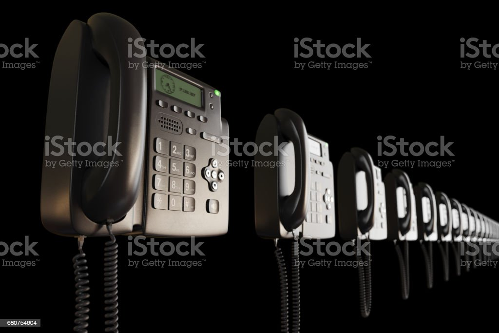 VOIP phones perspective view - foto stock