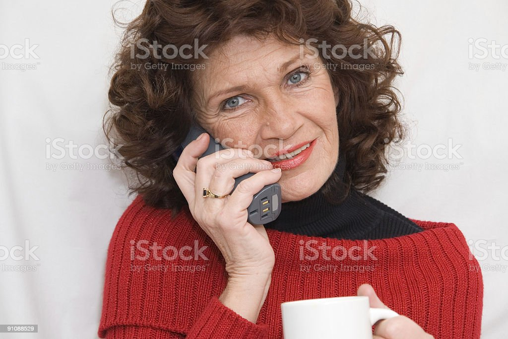 Phonetalk royalty-free stock photo