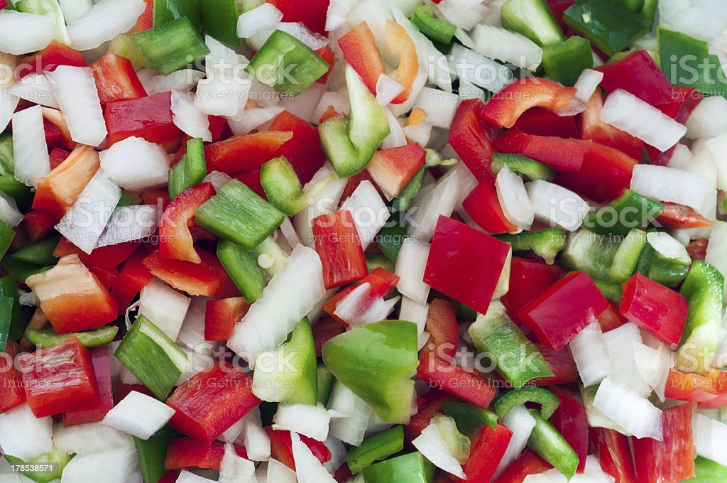 Phopped vegetables royalty-free stock photo
