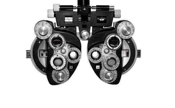 Phoropter, ophthalmic testing equipment stock photo