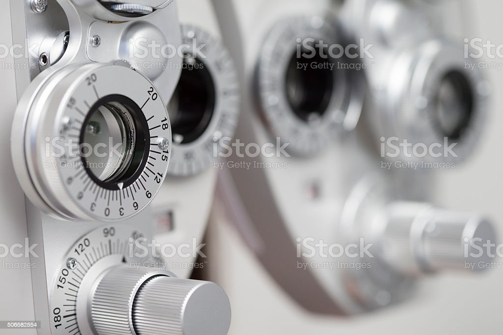 Phoropter stock photo