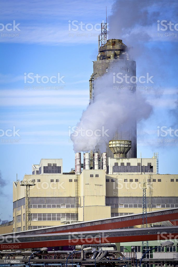 Phosphate Fertilizer Plant royalty-free stock photo