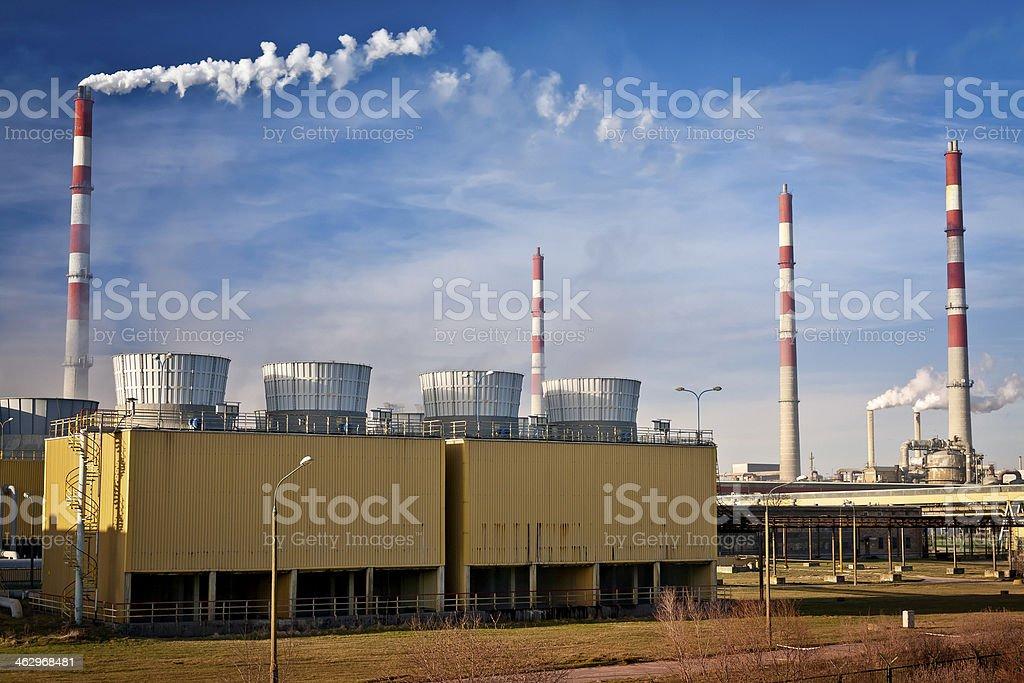 Phosphate Fertilizer Plant stock photo