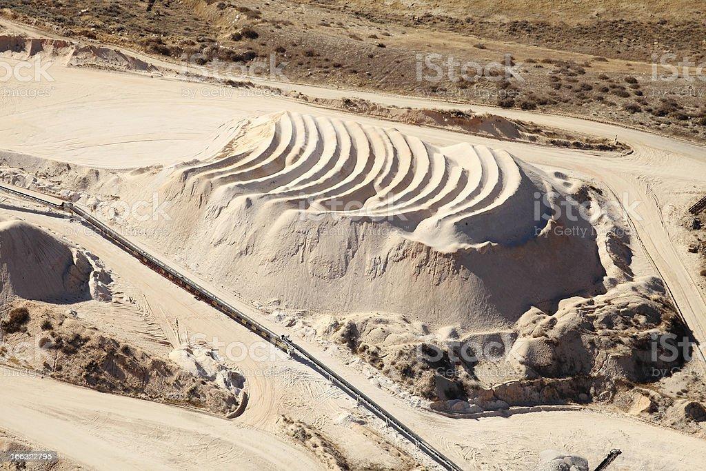 Phosphate mine stock photo