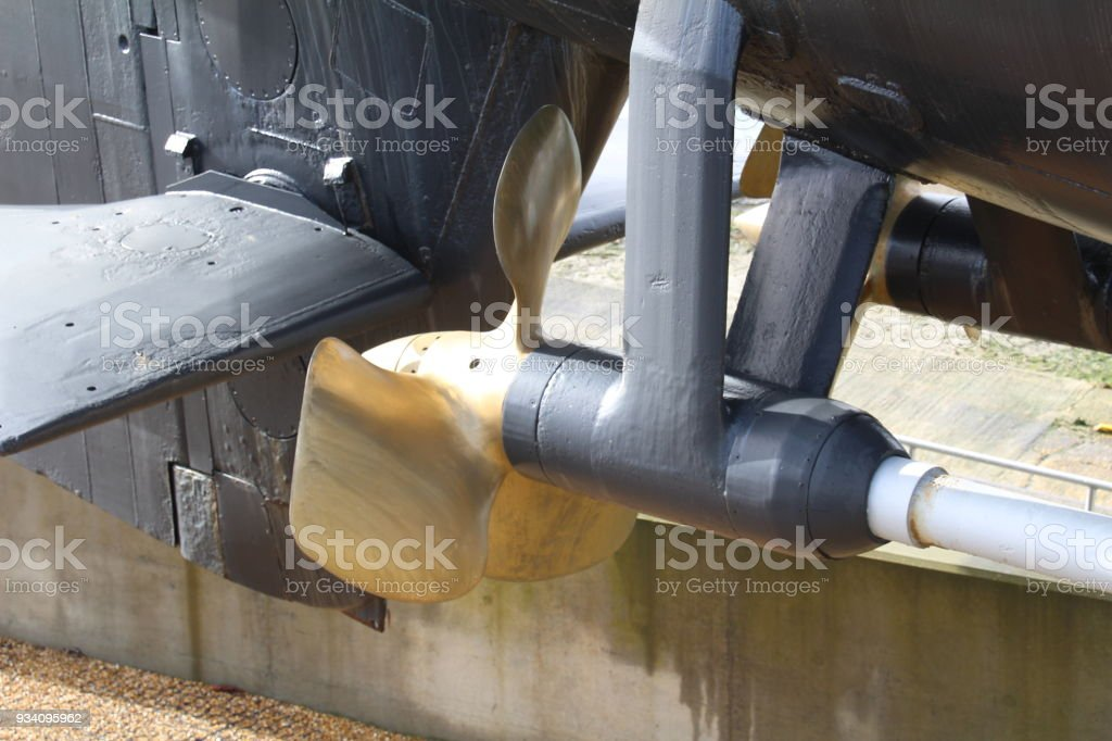 Phosphor bronze propeller. stock photo
