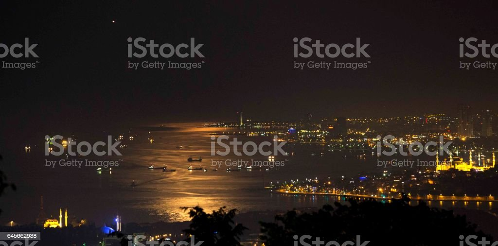 Phosphorescence in Istanbul stock photo