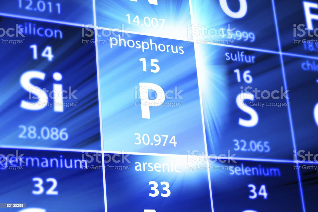 Phosphorus P Periodic Table stock photo