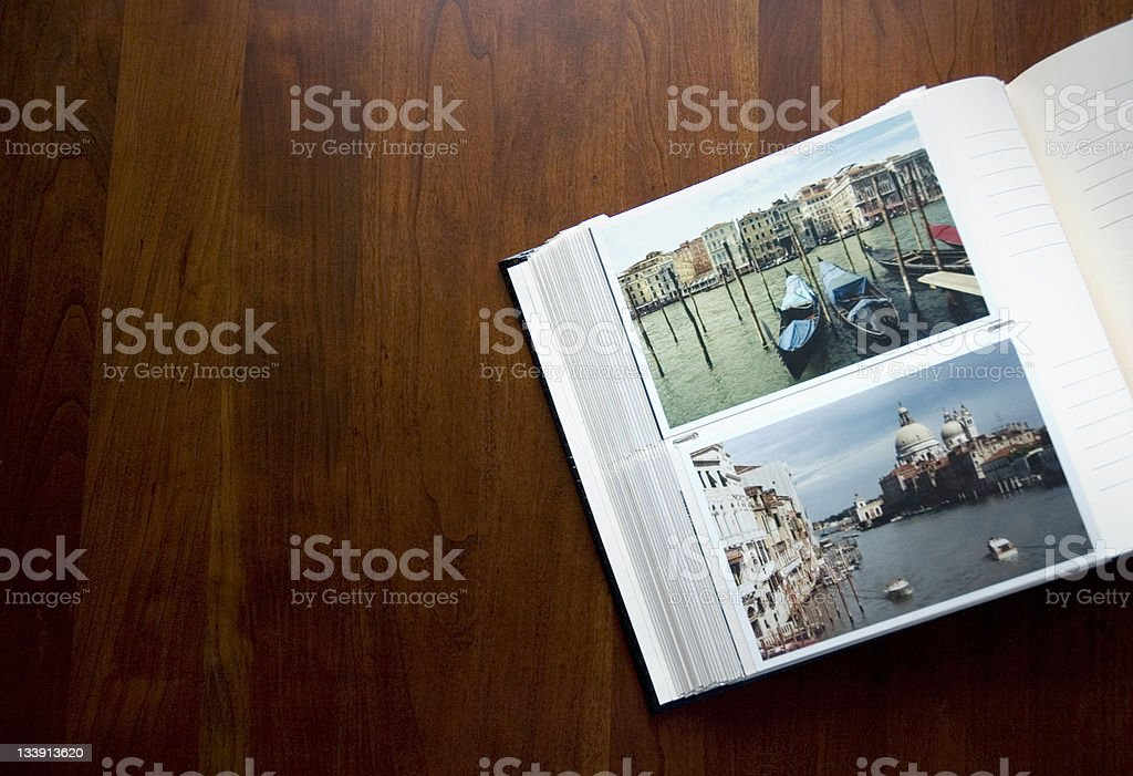 Photo Album on the Coffee Table stock photo