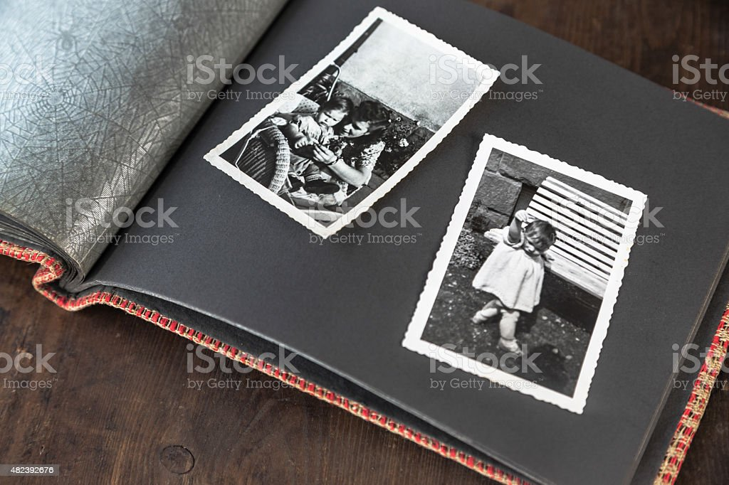 Photo album -  photos of children stock photo
