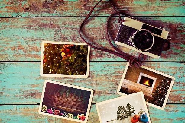 photo fotoalbum  - foto collage geschenk stock-fotos und bilder