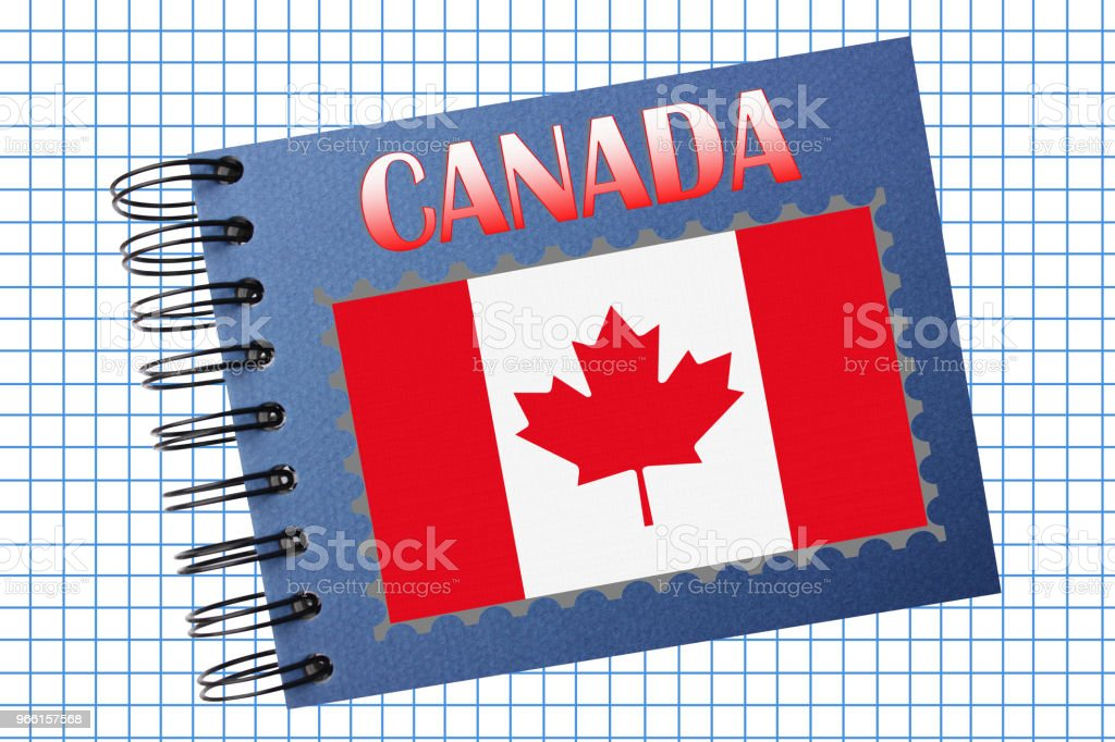 CANADA Photo album - Foto stock royalty-free di A quadri