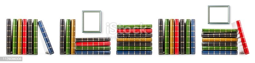istock Photo albums and picture frames set 1129096306