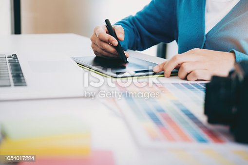 istock Photo artist and graphic desginer are working. 1054017224