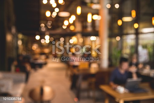 862429776 istock photo Photo blurred of coffee shop or modern library . Abstract bokeh light. 1010335754