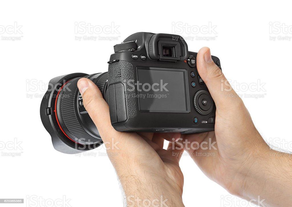 Foto Câmera na Mão foto de stock royalty-free