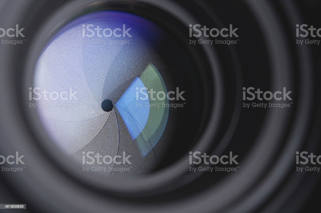 photo camera lens background royalty-free stock photo