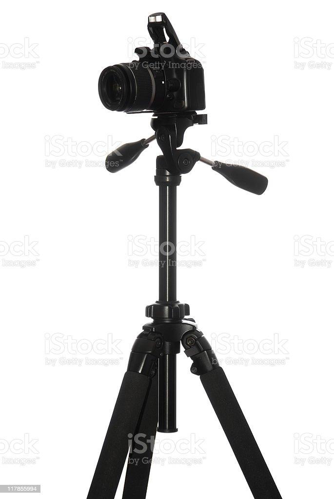 photo camera on tripod royalty-free stock photo
