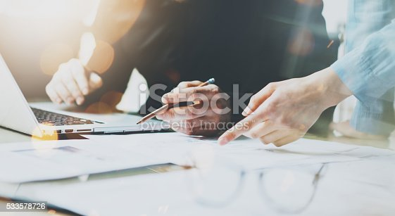 istock Photo Coworkers Team Working Modern Office.Man Using Generic Design 533578726