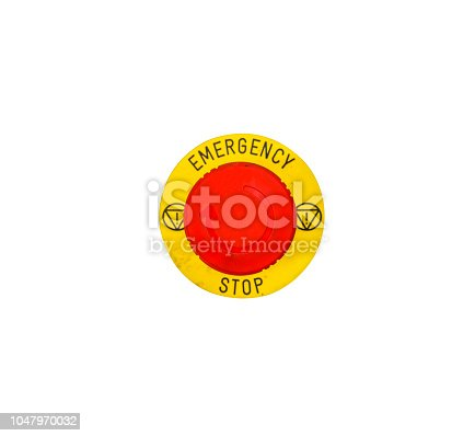 istock Photo Emergency stop button 1047970032