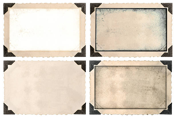 photo frame mock ups with corner, edges and empty field - photo corner stock photos and pictures