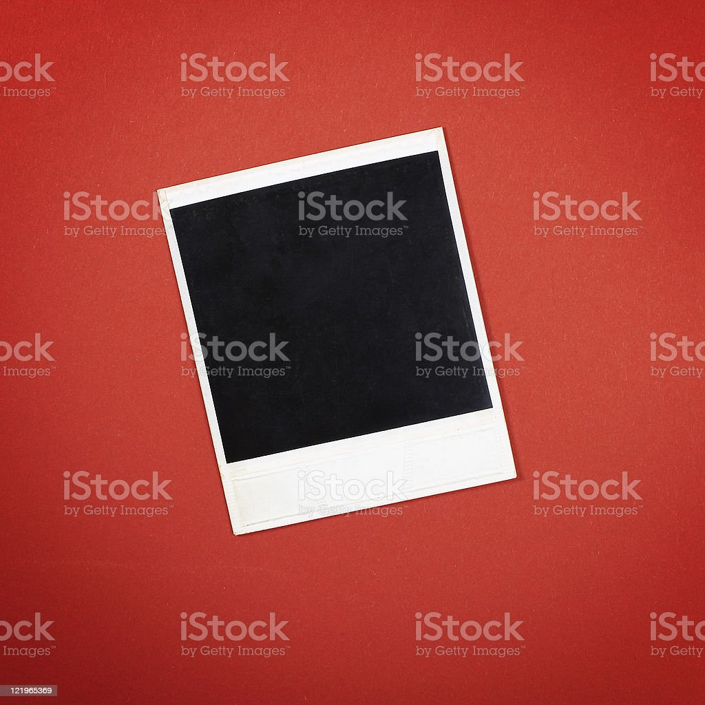 Photo frame on red royalty-free stock photo