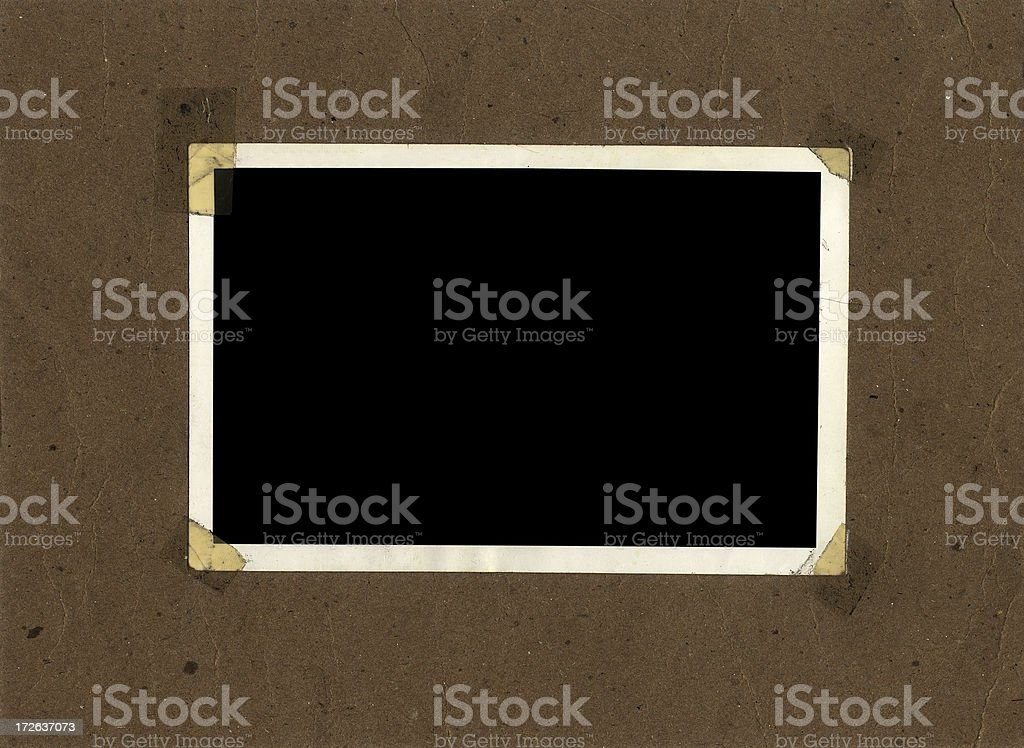 photo frame taped corners royalty-free stock photo