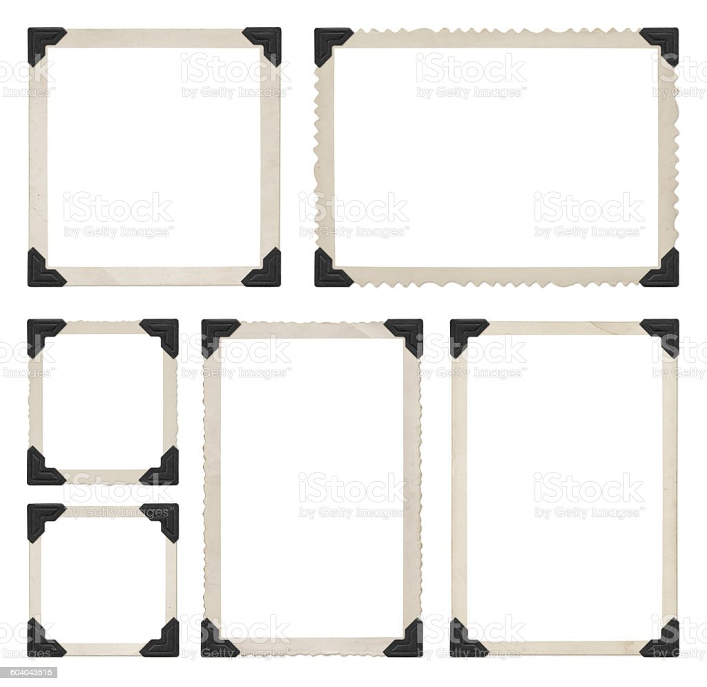 Photo Frames Collection (with paths) royalty-free stock photo
