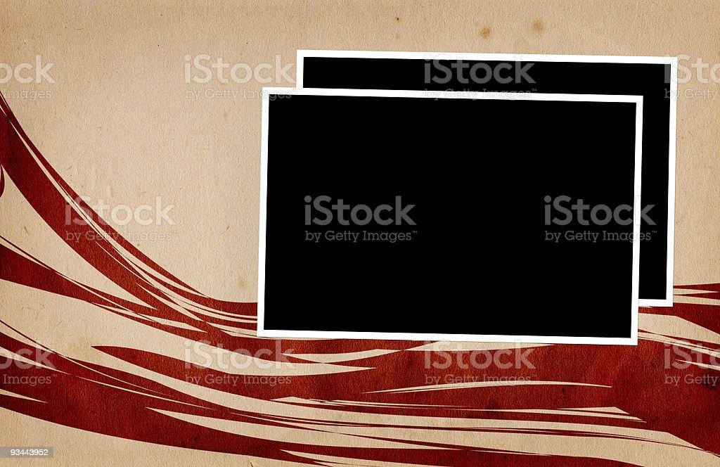 Fotorahmen auf Papier XXL Lizenzfreies stock-foto