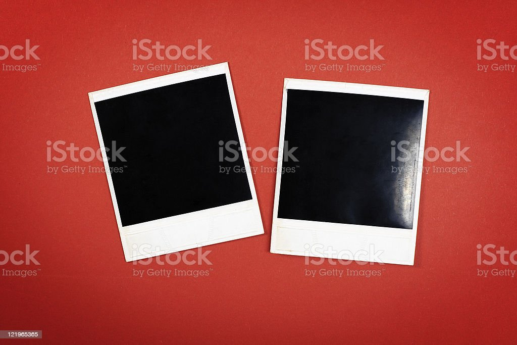 Photo frames on red royalty-free stock photo